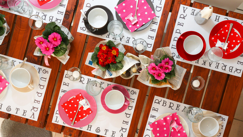 es wird fr hling neue deko ideen f r ihre feier die kulinarische werkstatt. Black Bedroom Furniture Sets. Home Design Ideas